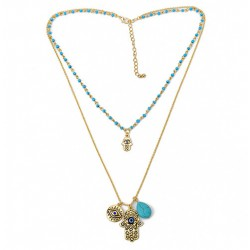Hamsa Fatima Hand Pendant Necklace