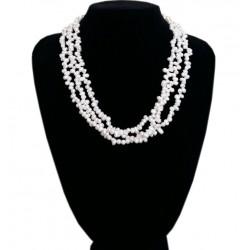 Collar Multi capas con Perlas auténticas cultivadas