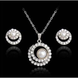 Necklace and Earrings Jewelry Set Calliope