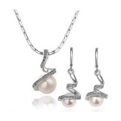 Conjunto collar y pendientes de perla Mallorca
