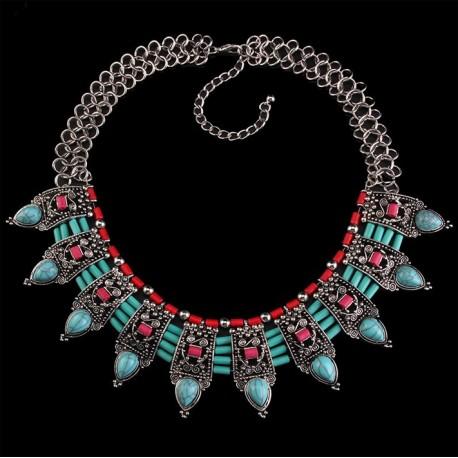 Ethnic Choker Necklace Azzurro Mare