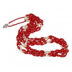 Collar de Coral Rojo pulido