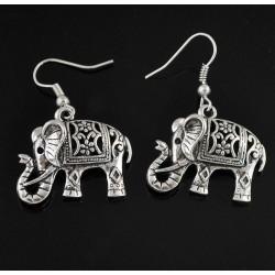 Pendientes con Elefantes de la Suerte