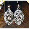 Pendientes étnicos estilo árabe de plata vintage