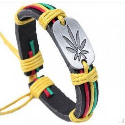 Leather Bracelet for Men with Metal Decoration