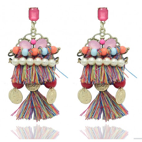 Bohemia Style Handmade Drop Earrings Cochabamba