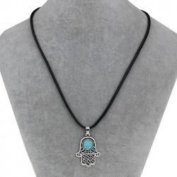 atima Hamsa Hand Pendant Necklace