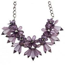 Collar de moda con flores de cristal