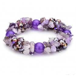 Handmade Elastic Irregular Natural Stone Strand Bracelets