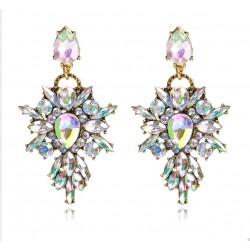 Pendientes lujosos de fiesta con cristales Fantasía