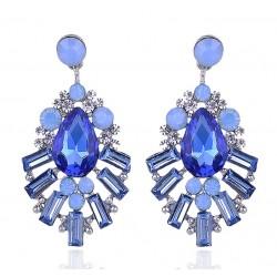 Crystal Waterdrop Statement Earrings