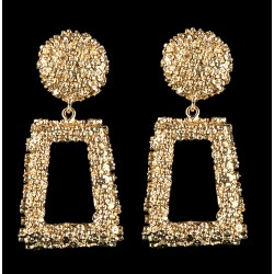 Exaggerated Metal Rectangular Dangle Earrings