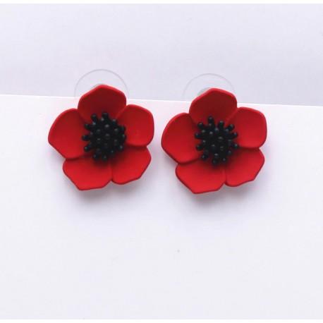 Poppy Flower Earrings, Different Colors