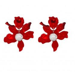 Pendientes Maxi con motivos florales en elegantes y atractivos colores