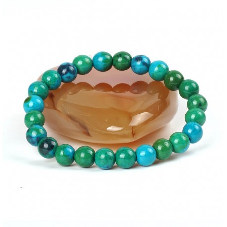 Natural Stone Chrysocolla Beads Bracelet