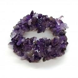Natural Chip Beads Amathyst Natural StoneBracelet