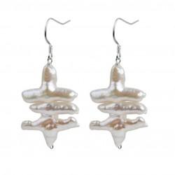 Pendientes de perla Barroca Keshi auténtica