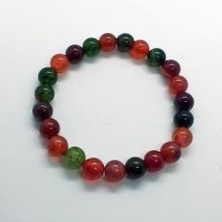 Pulsera de piedras naturales de Turmalina arco iris bolas de 8mm