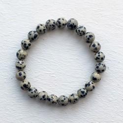 Natural Stone Rainbow Dalmatian Jasper 8mm Bracelet