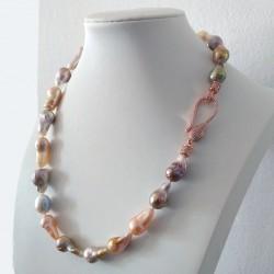 Collar Signature con perlas barroca en tonos rosas