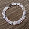 Collar Signature con perlas Biwa rosas