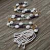White Coin Pearl, Amethyst, Citrine, Prehnite Necklace Signature Collection