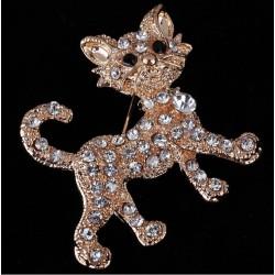 Broche Gatito con cristales