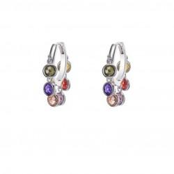 Luxury Cubic Zircon Tassel Hoop Earrings