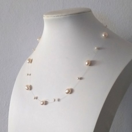 Natural Baroque Pearl and 925 Sterling Silver Fine Necklace