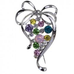 Broche con rama de Uvas coloridas