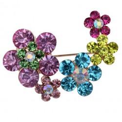 Broche con Flores Multicolor