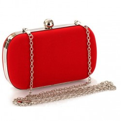 Bolso clutch rojo o negro