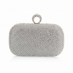 Bolso clutch con cristales