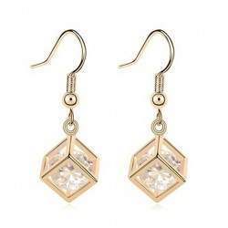 Crystal Drop Earrings Kubic