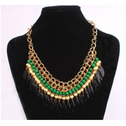 Collar estilo Egipcio con piedras de color