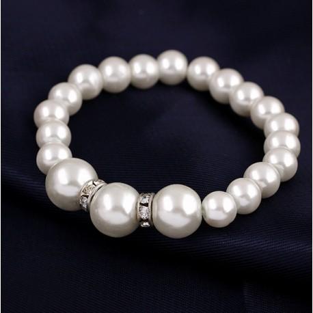 Pulsera de perlas sintéticas Manacor