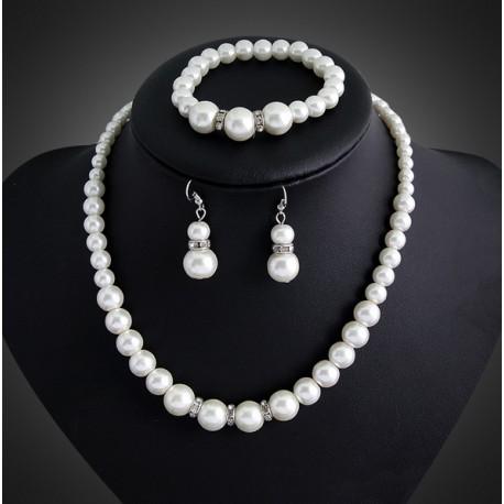 Jewelry set with Acrylic Pearls Manacor
